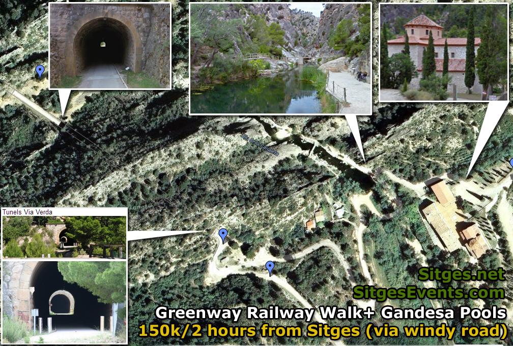 Greenway + Gandesa Pools Map