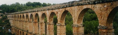Roman aqueduct Tarragona Pont de les Ferreres