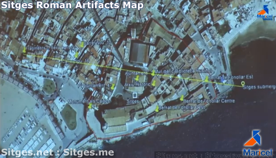 Sitges Roman Artifacts Map
