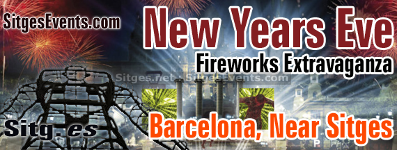 Barcelona 2014 New Years Eve Fireworks Event