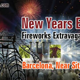 Barcelona 2014 New Year Fireworks Event