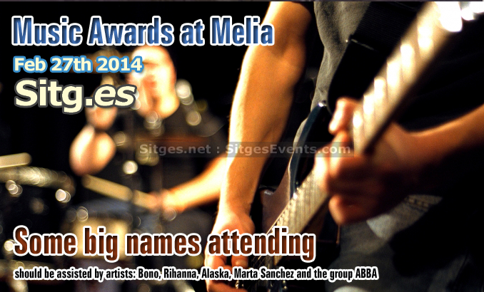World Music Awards in Sitges at Hotel Melia
