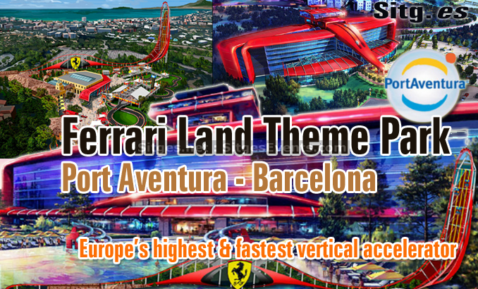ferrari land theme park portaventura near barcelona. Black Bedroom Furniture Sets. Home Design Ideas