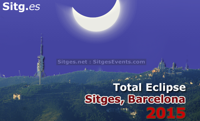 March 2015 Sun Total Eclipse visible in Sitges, Barcelona