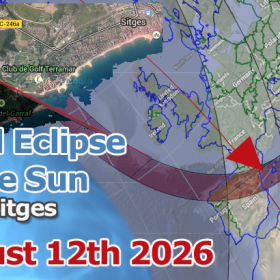 Total Solar Eclipse near Sitges - August 12th, 2026