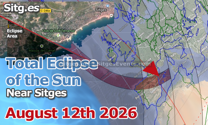 Total Solar Eclipse near Sitges – August 12th, 2026