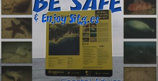 Sitges 'Coastal Advice' Sign