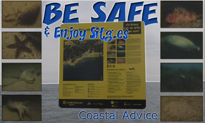 Sitges 'Coastal Advice' Sign