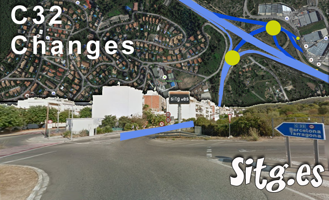 Sitges Road Closures During C32 Work